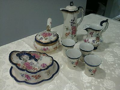 Vintage 8 Piece Hot Chocolate Set w4 Cups,Pot Lid & SO much more Villeroy Boch?