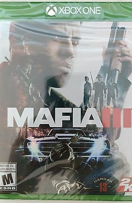 Mafia III (Microsoft Xbox One, 2016) Brand New Factory Sealed! Holographic Cover