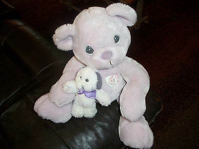 Precious Moments 1999 Bear plush with puppy dog