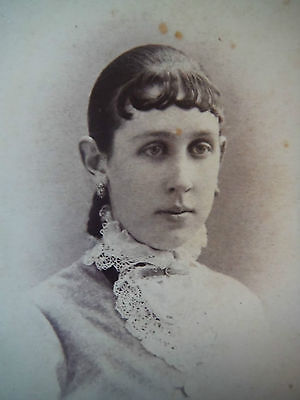 CDV / G.W. Doolittle / Montrose PA / Woman with lacy collar
