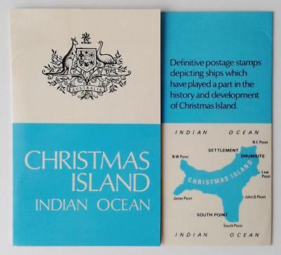 CHRISTMAS ISLAND 1972 SHIPS PRESENTATION PACK - MUH set of 16 Hard to find!