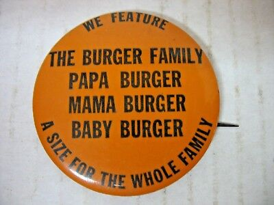 A&w Restaurant Burger Family Pinback Button