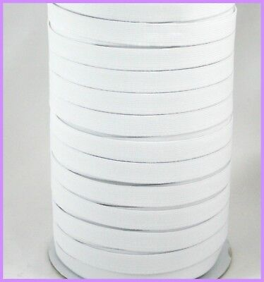 12mm Non Roll Braided Elastic white 1m High Quality sewing waistbands crafts