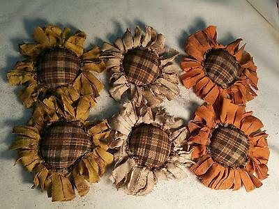 Primitive Flowers Bowl Fillers Handmade Ornies Ornaments/Grunged