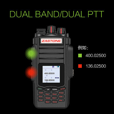 Zastone A19 Walkie Talkie Transceiver 10W VHF&UHF Handheld Radio For Hunting