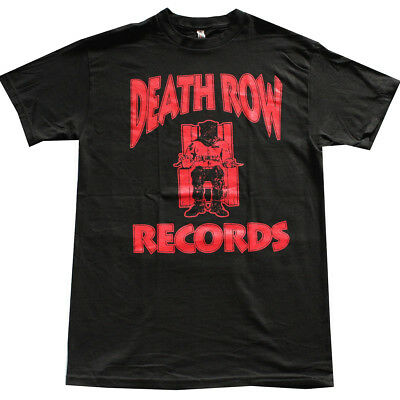 DEATH ROW RECORDS Red Logo Men's T-Shirt Black