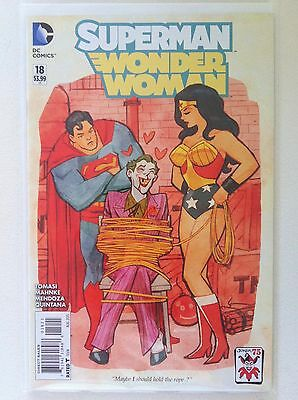 "Superman Wonder Woman #18 Cliff Chiang ""joker"" Variant Cover 52 Nm 1St Printing"