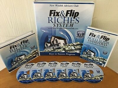 Fix & Flip Riches Real Estate System By Jerry Norton - Manual, Dvd & 6 Cd's Rare