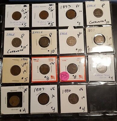 Small Cent Mixed Lot P5