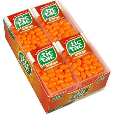 TIC TACS MINTS ORANGE  CANDY PACK  OF - 24 (10gm each) ,free shipping