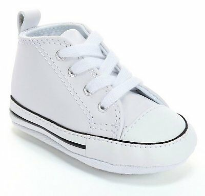 58e5d4ffc676 Converse First Star White Leather Baby Crib Newborn Infant Kids Shoes
