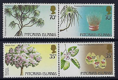 1983 Pitcairn Islands Trees Part I Set Of 4 Fine Mint Mnh/muh