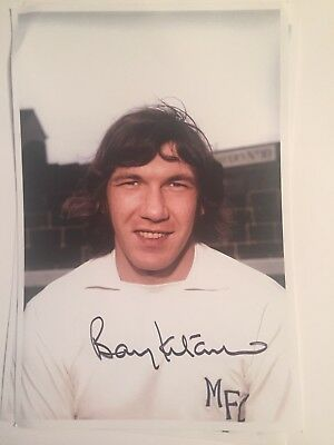 Barry Kitchener Millwall Legend Hand Signed 9x6 Photograph