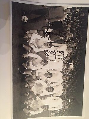 1970 Millwall Team Photo Hand Signed By Barry Kitchener And Bryan King