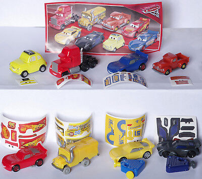 NEW set 2017 Disney Cars 3 Kinder Surprise collection from Russia +all BPZ