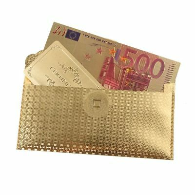 24K Purse Euro Collect 24K Gold Foil Plated Collection Money Christmas Gifts New