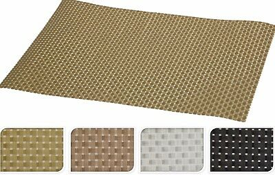 Set of 4 Large Woven Placemats Easy Wipe Down Clean Place Mats