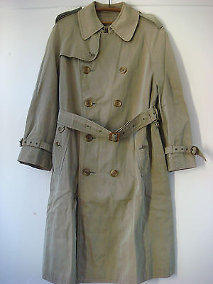 Original Vintage English Grenfell Two Tone Trench Coat Cordings Of Piccadilly