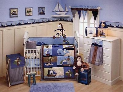 Nojo Ahoy Mate 5 Piece Cot/bed Set- still bagged & factory sealed