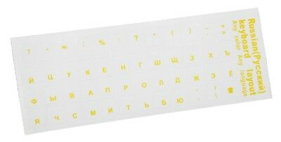 Five Colors Decoration PC Russian Standard Transparent Keyboard Layout Stickers