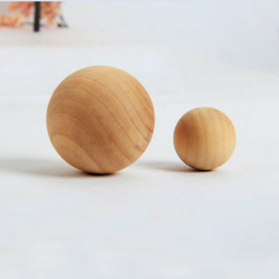 Natural Wooden Balls Unfinished Hardwood Round Craft Art Toy Ball Dia 30/50mm
