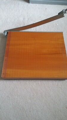 Guillotine. Wooden With Measure & Grids.