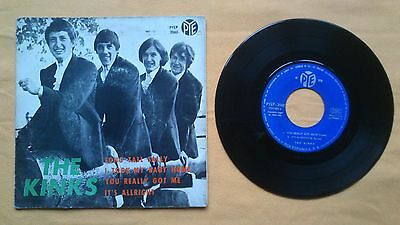 "The Kinks - Long Tall Sally / You Really Got Me. Ep 7"" Vinyl Spanish"