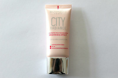 Bourjois City Radiance Skin Protecting Foundation 30ml - Please Choose Shade: