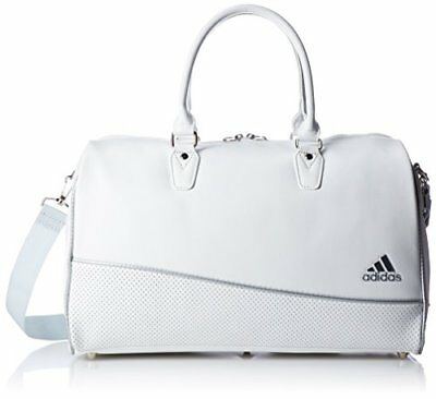Adidas Golf Boston Bag W45 X D21 X H29Cm W/ Shoes In Pocket Awt91 White New