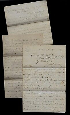 107th Illinois Infantry LONG CIVIL WAR LETTER from Camp Hobson Glasgow, Kentucky