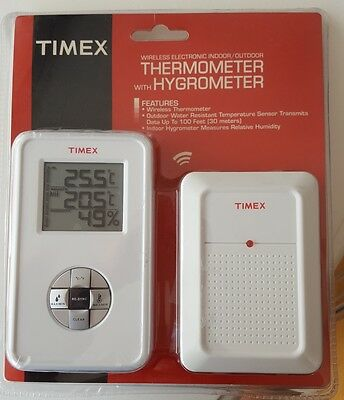 TIMEX wireless indoor outdoor thermometer/hygrometer