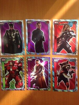 Topps Marvel Missions Trading Cards - 6 Holographic (inc Hulkbuster/Rocket/Thor)