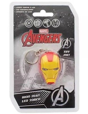 Iron Man - Helmet Keyring LED Torch - New & Official Marvel Comics In Pack