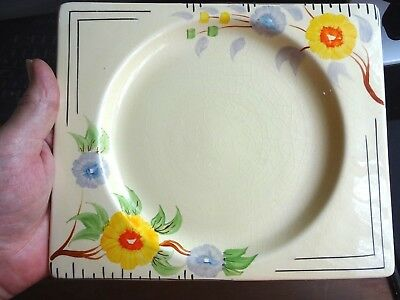 Art Deco Hand Painted Early Clarice Cliff Rhodanthe - The Biarritz  Plate 1 of 5