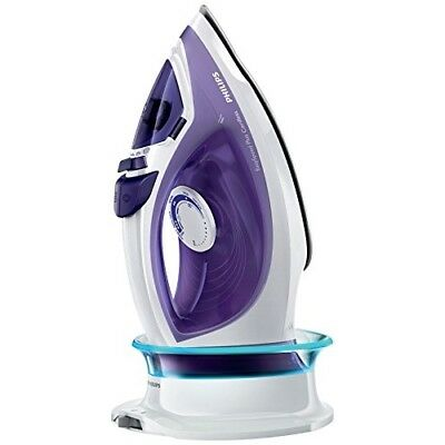 Philips Freedom Cordless 2400W Steam Iron 23300 - Purple and White