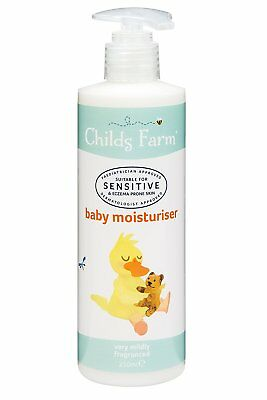Childs Farm Baby Moisturiser 250ml  For Sensitive or Eczema Prone Skin  New FAST