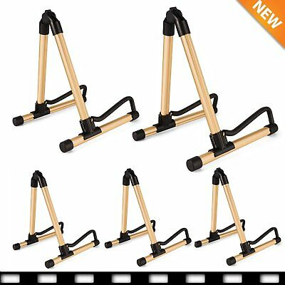 5X A-Frame Folding Universal Acoustic Electric Bass Guitar Floor Stand Holder VP