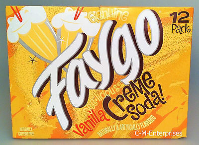 Faygo Vanilla Creme Soda 12 Pack - 12 Oz Cans
