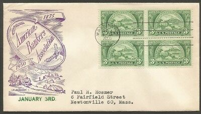 Us Cover 1950 American Bankers Association 3C Stamp