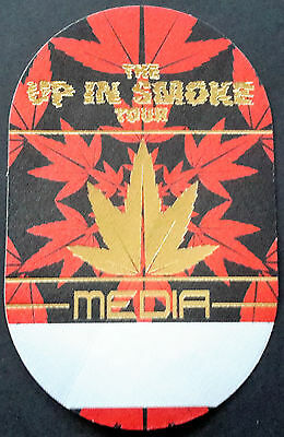 Dr. Dre, Snoop Dogg, Ice Cube, Eminem *up In Smoke* Satin Backstage Pass - Media