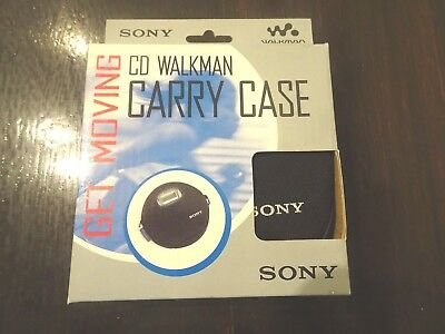 Sony CD Walkman Carry Case Get Moving Protect CD Player Clips To Belt NEW