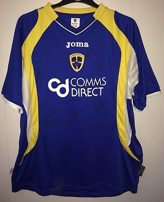 Cardiff City Signed Football Shirt 2007/08 Adults Large Joma