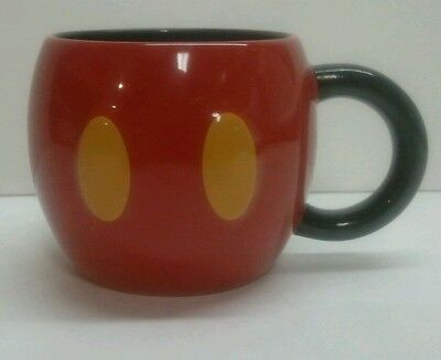 Disney Mickey Mouse Pants Mug in Red Round Heavy and Sturdy EUC!