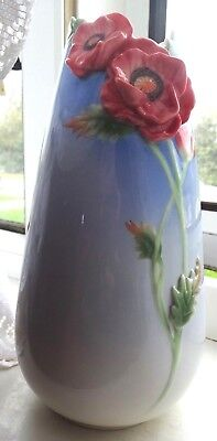 Superb Franz Porcelain Early Poppy Vase Designed by Wei Xuei Mei FZ00303