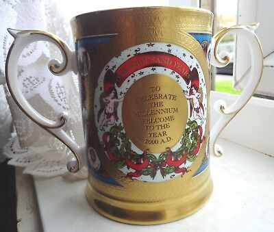 Superb Limited Edition 2/100 Caverswall Millennium Loving Cup Exc Gilding