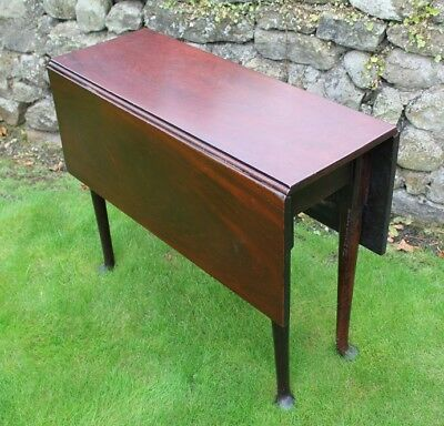 19th century mahogany drop leaf gate leg dining / kitchen / tea table [C152]