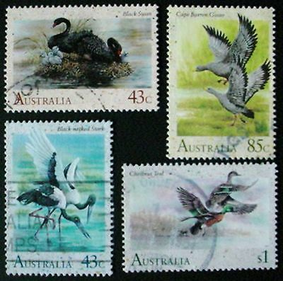 Australia 1991: Waterbirds: Set Of 4 Used Stamps