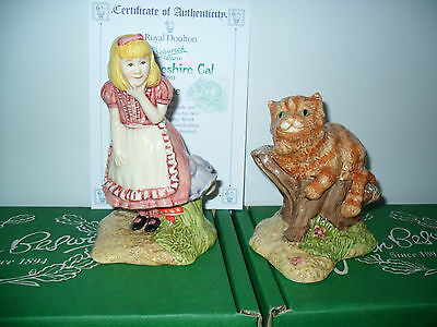 Original Beswick Alice  &  Cheshire Cat (Two Figures) Ltd Ed Boxed& Certificate