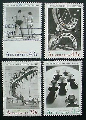 Australia 1991: 150 Years Photography In Australia: Set Of 4 Used Stamps
