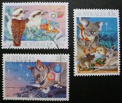 Australia 1990: Christmas & 150 Yrs Local Government: 2 Sets Of Used Stamps